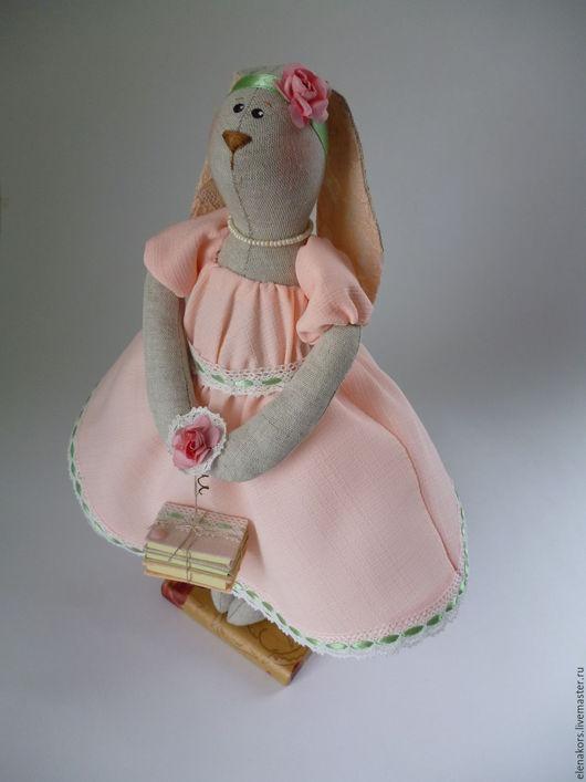 Куклы Тильды ручной работы. Ярмарка Мастеров - ручная работа. Купить Зайка Персиковая. Handmade. Кремовый, текстильная игрушка