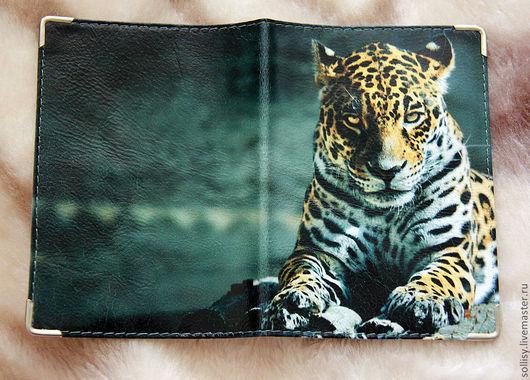 """Обложки ручной работы. Ярмарка Мастеров - ручная работа. Купить обложка """"Леопард"""". Handmade. Натуральная кожа, обложки, оригинальная обложка"""