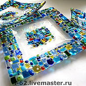 Посуда handmade. Livemaster - original item plates of glass, fusing the Sun in the water. Handmade.