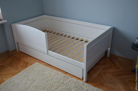 Детская ручной работы. Ярмарка Мастеров - ручная работа. Купить Кроватка со съемным бортиком. Handmade. Белый, мебель на заказ