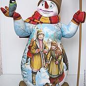 Русский стиль ручной работы. Ярмарка Мастеров - ручная работа Снеговик.Ручная работа.. Handmade.