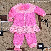 Работы для детей, ручной работы. Ярмарка Мастеров - ручная работа Вязанный костюмчик для маленькой принцессы. Handmade.