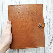 Канцелярские товары handmade. Livemaster - original item Hardcover leather diary. Handmade.