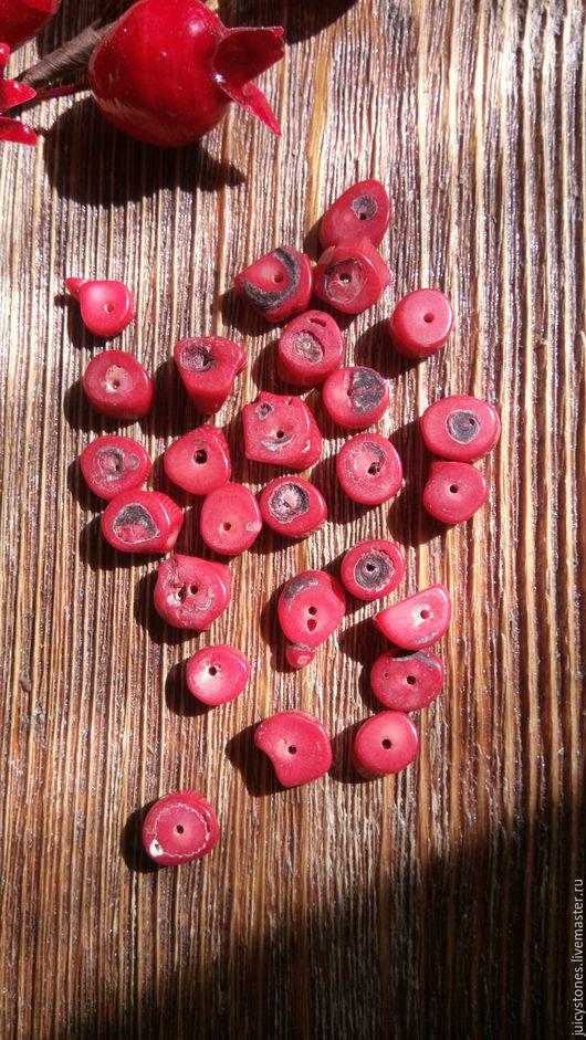 Для украшений ручной работы. Ярмарка Мастеров - ручная работа. Купить Коралл бусины диски. Handmade. Коралловый, бусины коралла