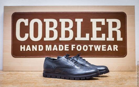 Обувь ручной работы. Ярмарка Мастеров - ручная работа. Купить Оксфорды. Handmade. Оксфорд, обувь ручной работы, обувь на подошве