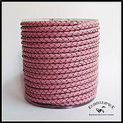 Материалы для творчества ручной работы. Ярмарка Мастеров - ручная работа Розовый плетеный шнур 5 мм Индия. Handmade.