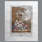 Винтаж handmade. Livemaster - original item Engraving Fragonard Jean Honore France Antiques. Handmade.