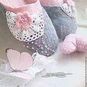 Обувь ручной работы. Ярмарка Мастеров - ручная работа Валяные тапочки Нежные зефирки. Handmade.