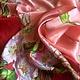 """Шали, палантины ручной работы. Ярмарка Мастеров - ручная работа. Купить Шелковый платок """" Цветет шиповник"""". Handmade. Розовый"""