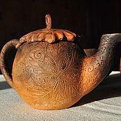 """Посуда ручной работы. Ярмарка Мастеров - ручная работа Чайник """"Осенние листья"""". Handmade."""