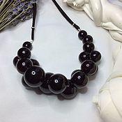 Украшения handmade. Livemaster - original item Black choker made from hand-blown beads .Lampwork. Handmade.
