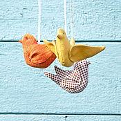 Куклы и игрушки ручной работы. Ярмарка Мастеров - ручная работа Настроение ( набор птичек ). Handmade.