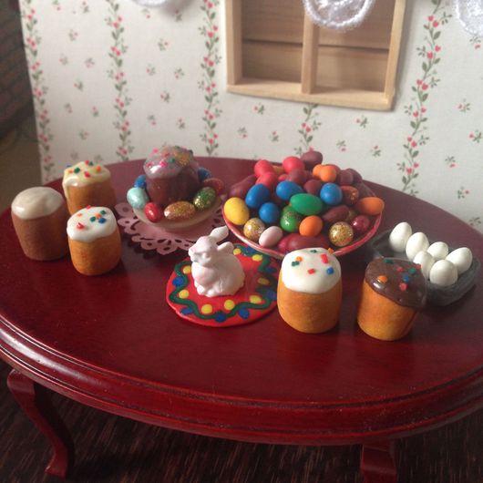"""Куклы и игрушки ручной работы. Ярмарка Мастеров - ручная работа. Купить Миниатюра из полимерной глины """"Пасха"""" масштаб 1:12. Handmade."""