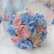 Свадебный салон handmade. Livemaster - original item Bridal bouquet with hydrangea. Handmade.