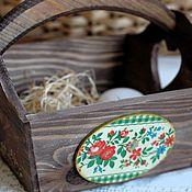 Для дома и интерьера ручной работы. Ярмарка Мастеров - ручная работа Корзинка Домашняя радость для сервировки стола массив. Handmade.