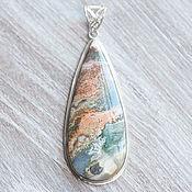 Украшения handmade. Livemaster - original item Jasper large pendant (800). Handmade.