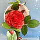 Топиарии ручной работы. Цветочная чашка Королева цветов. Сувениры ручной работы от ElenaVSh. Ярмарка Мастеров. Розы, для интерьера кухни