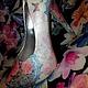 """Обувь ручной работы. """"Романтика всегда рядом"""" женская обувь с цветочным мотивом ручная. Карина Четверикова  GlissbyMNK. Ярмарка Мастеров."""