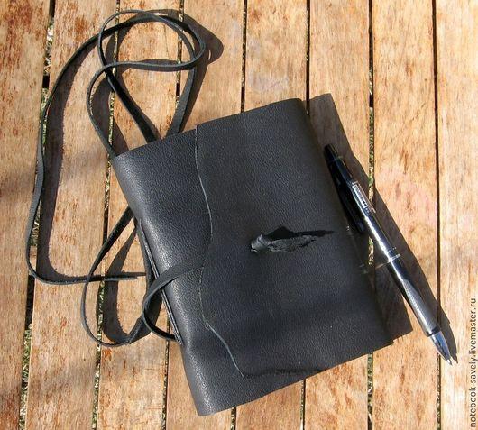Блокноты ручной работы. Ярмарка Мастеров - ручная работа. Купить Блокнот из кожи .Черный. Handmade. Черный, кожаны