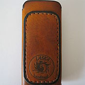 Сумки и аксессуары handmade. Livemaster - original item Leather case for mobile phone-smartphone. Handmade.