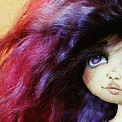 """Куклы и игрушки ручной работы. Ярмарка Мастеров - ручная работа Кукла текстильная """"Аметистовый закат"""". Handmade."""
