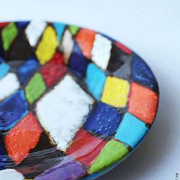 """Посуда ручной работы. Ярмарка Мастеров - ручная работа тарелка """"Арлекин"""" керамика. Handmade."""