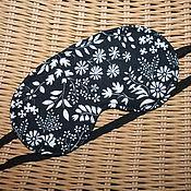 Сувениры и подарки ручной работы. Ярмарка Мастеров - ручная работа Маска для сна Чёрная с белым. Handmade.