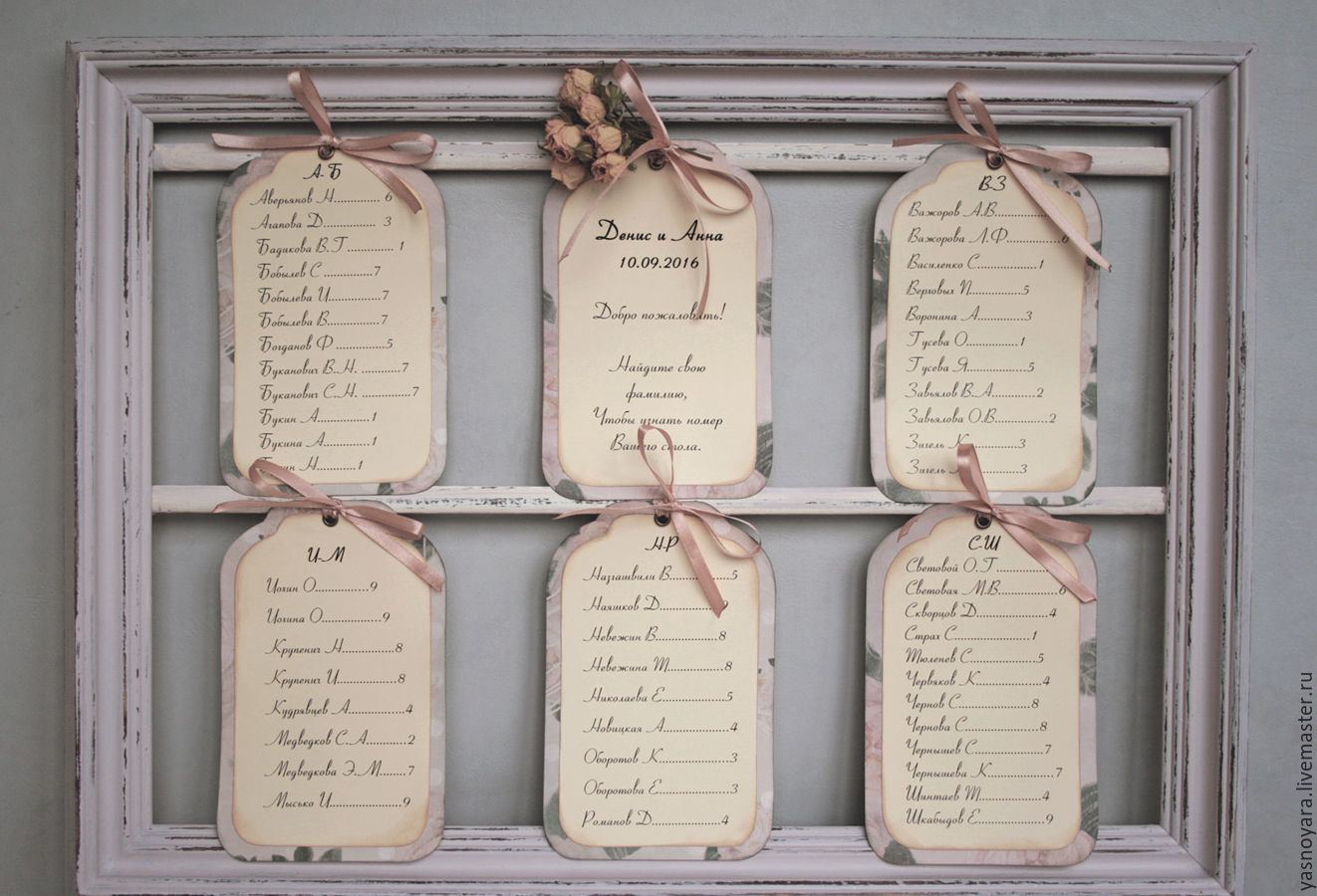 The Seating chart Tea rose (with wooden frame) – shop online on ...