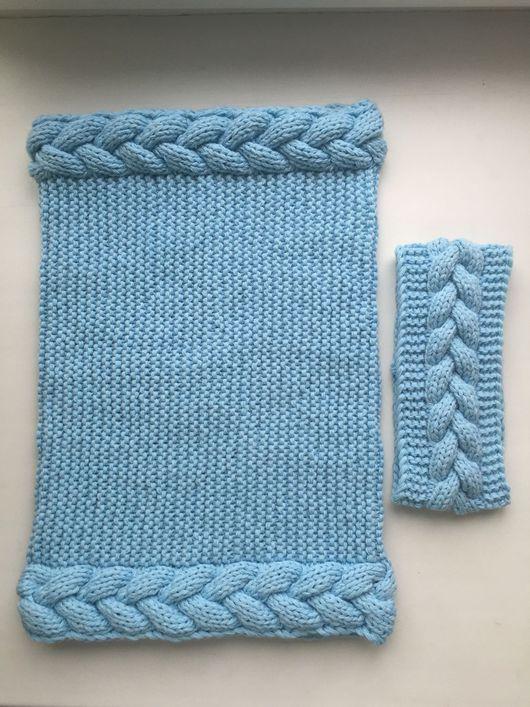 Шарфы и шарфики ручной работы. Ярмарка Мастеров - ручная работа. Купить Комплект снуд в 1 оборот + повязка. Handmade.