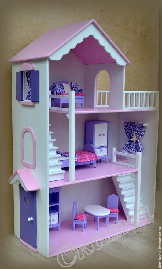 Кукольный дом ручной работы. Ярмарка Мастеров - ручная работа. Купить Кукольный домик. Handmade. Кукольный дом, Для Барби