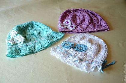 Шапки и шарфы ручной работы. Ярмарка Мастеров - ручная работа. Купить Шапочки для девочки. Handmade. Комбинированный, аксессуары для детей, нитки