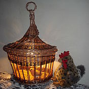 """Для дома и интерьера ручной работы. Ярмарка Мастеров - ручная работа """"Новогодний фонарик"""" - бра плетеное. Handmade."""
