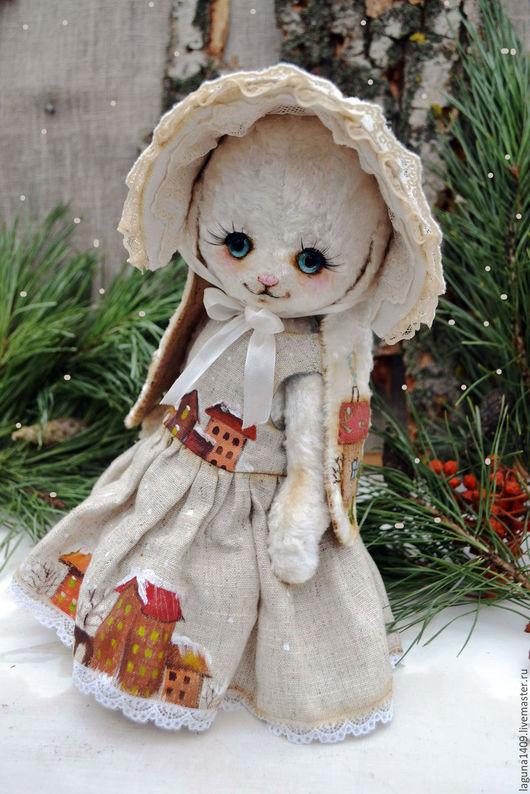 """Мишки Тедди ручной работы. Ярмарка Мастеров - ручная работа. Купить Плюшевая зайка """"Снежинка"""". Handmade. Белый, ангелы из сундучка"""