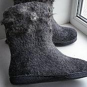 """Обувь ручной работы. Ярмарка Мастеров - ручная работа Сапоги-валенки """"Благородное серебро"""". Handmade."""