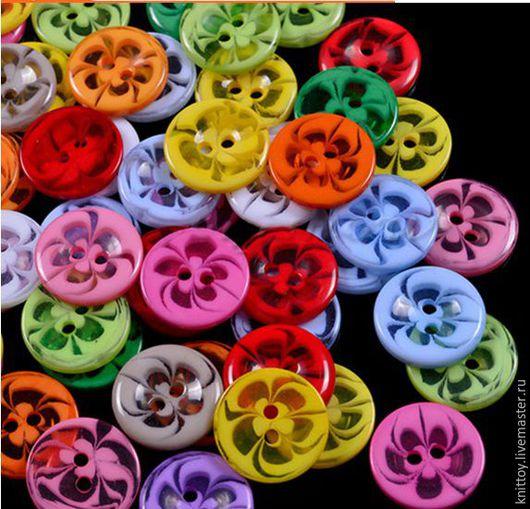 Шитье ручной работы. Ярмарка Мастеров - ручная работа. Купить Пуговица Цветок. Handmade. Комбинированный, пуговица, пуговица декоративная