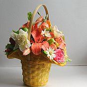 Цветы и флористика ручной работы. Ярмарка Мастеров - ручная работа Солнечная корзинка. Handmade.