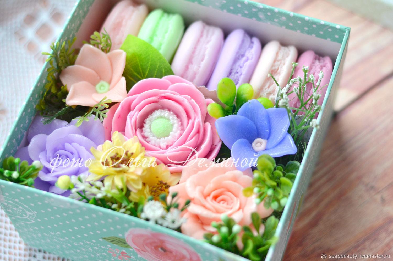 Цветы и макаруны2 - набор мыла, Мыло, Ижевск, Фото №1