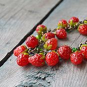 """Украшения ручной работы. Ярмарка Мастеров - ручная работа Браслет лэмпворк """"Strawberry"""". Handmade."""