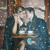 """Картины ручной работы. Ярмарка Мастеров - ручная работа Авторская работа Картина маслом """"Первый снег"""". Handmade."""