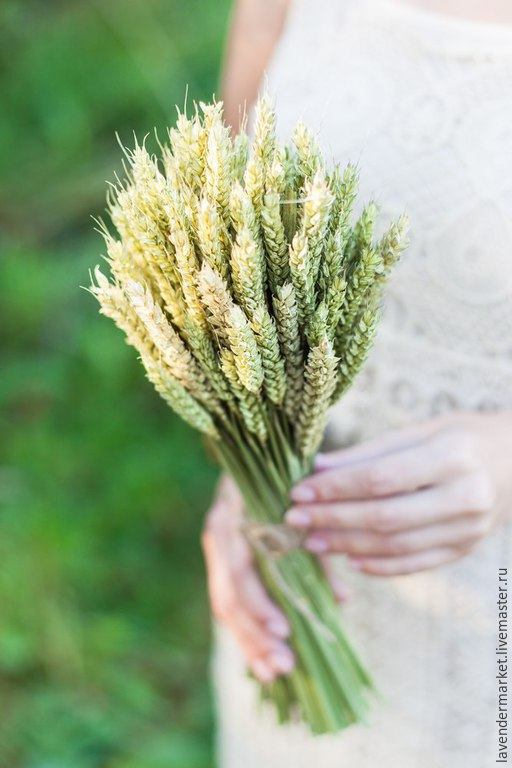 Букеты ручной работы. Ярмарка Мастеров - ручная работа. Купить Букет спелой пшеницы. Handmade. Бежевый, сухоцветы, букет невесты