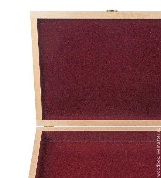 Декупаж и роспись ручной работы. Ярмарка Мастеров - ручная работа. Купить 34255Ф Шкатулка 34 25 5 см с флоком для бижутерии. Handmade.
