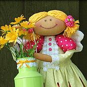 Куклы и игрушки ручной работы. Ярмарка Мастеров - ручная работа Августина. Кофейный Ангел Лета. Handmade.