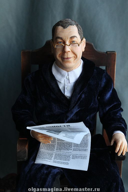 Портретные куклы ручной работы. Ярмарка Мастеров - ручная работа. Купить портретная кукла. Handmade. Портретная кукла, подарок мужчине