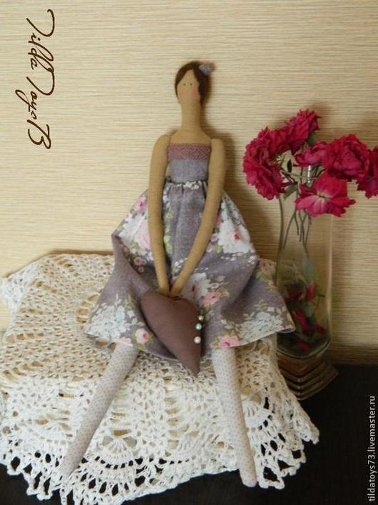 Куклы Тильды ручной работы. Ярмарка Мастеров - ручная работа. Купить Винтажная девочка. Handmade. Коричневый, для дома и интерьера