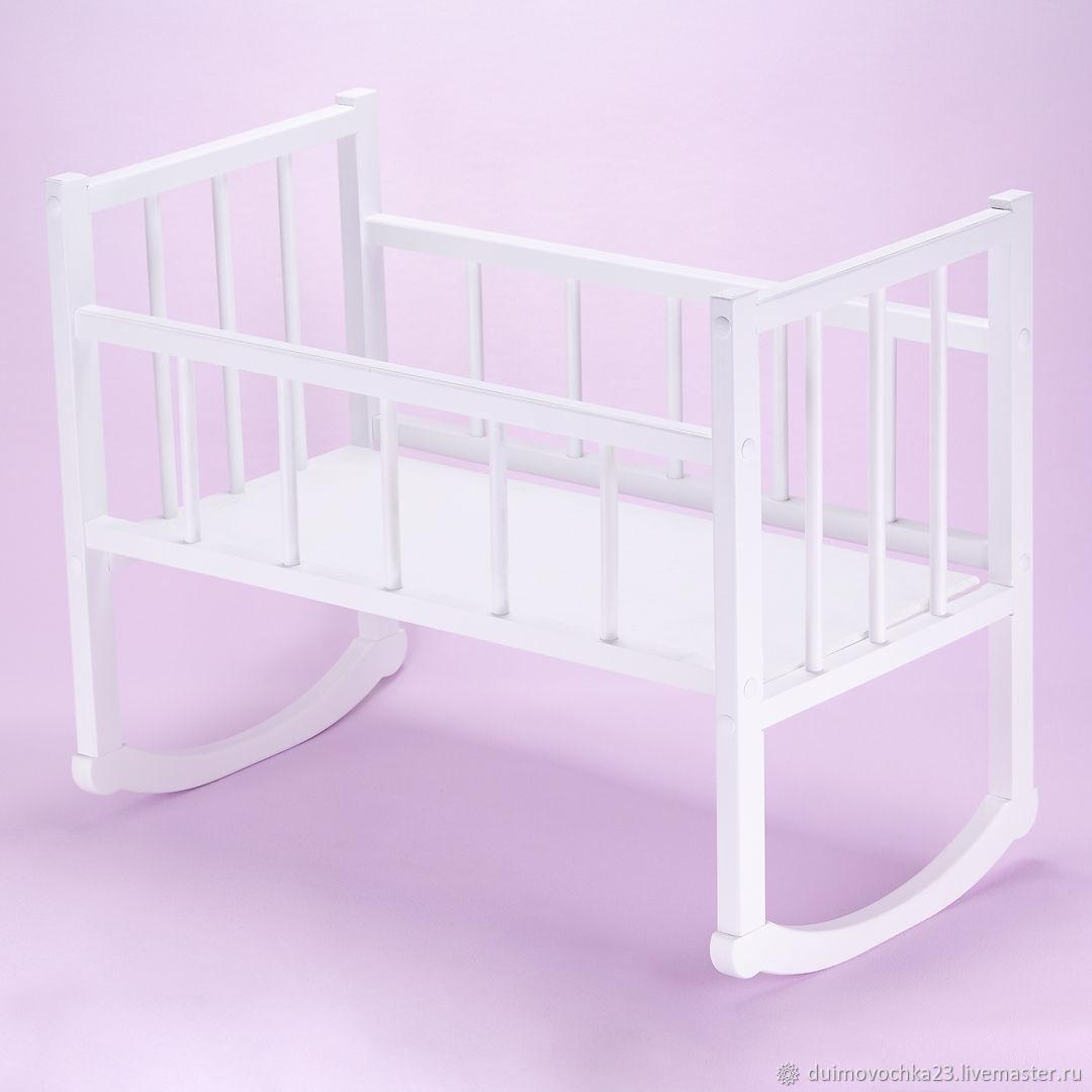 Кроватка качалка для куклы до 48 см, Мебель для кукол, Краснодар,  Фото №1