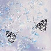 Картины ручной работы. Ярмарка Мастеров - ручная работа Тишина невесомости-картина маслом бабочки. Handmade.