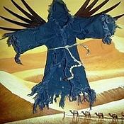 Картины и панно ручной работы. Ярмарка Мастеров - ручная работа Авторская 3Д картина Черный ангел пустыни.. Handmade.
