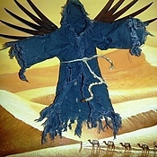 Картины и панно handmade. Livemaster - original item Copyright 3D picture of the Black angel of the desert.. Handmade.