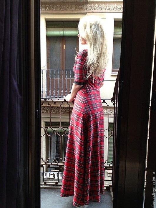 """Платья ручной работы. Ярмарка Мастеров - ручная работа. Купить Платье """"Шотландка"""". Handmade. Шотландская клетка, полиэстер"""