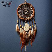 Фен-шуй и эзотерика handmade. Livemaster - original item Dream catcher with obsidian, jasper and agate, 33 cm. Handmade.